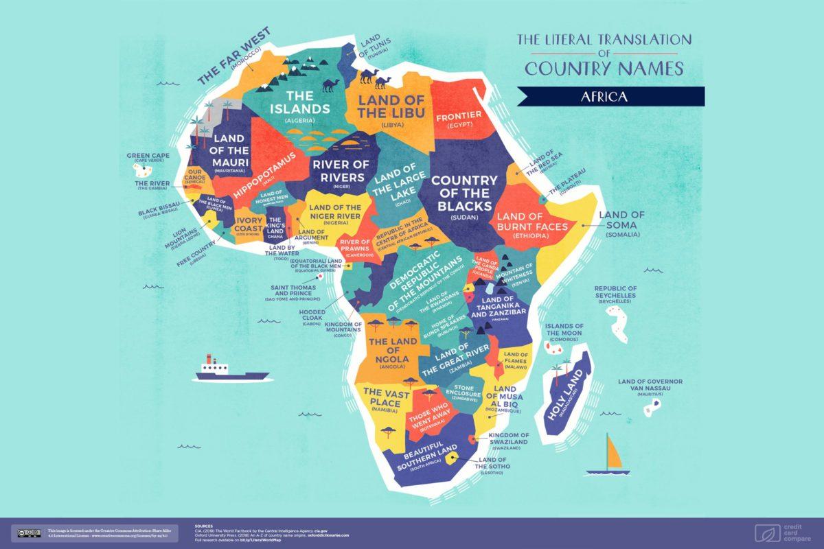 Les Vrais Noms De Pays Sur Une Carte Du Monde