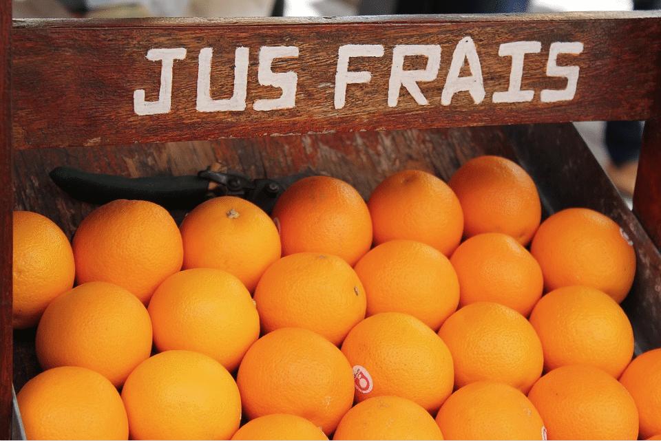 orange jus de fruits frais