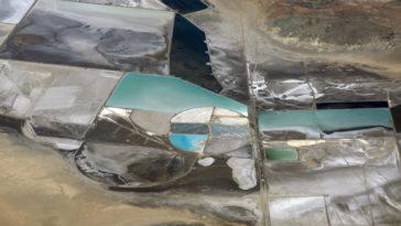 Lit de lac asséché pour l'exploitation du lithium
