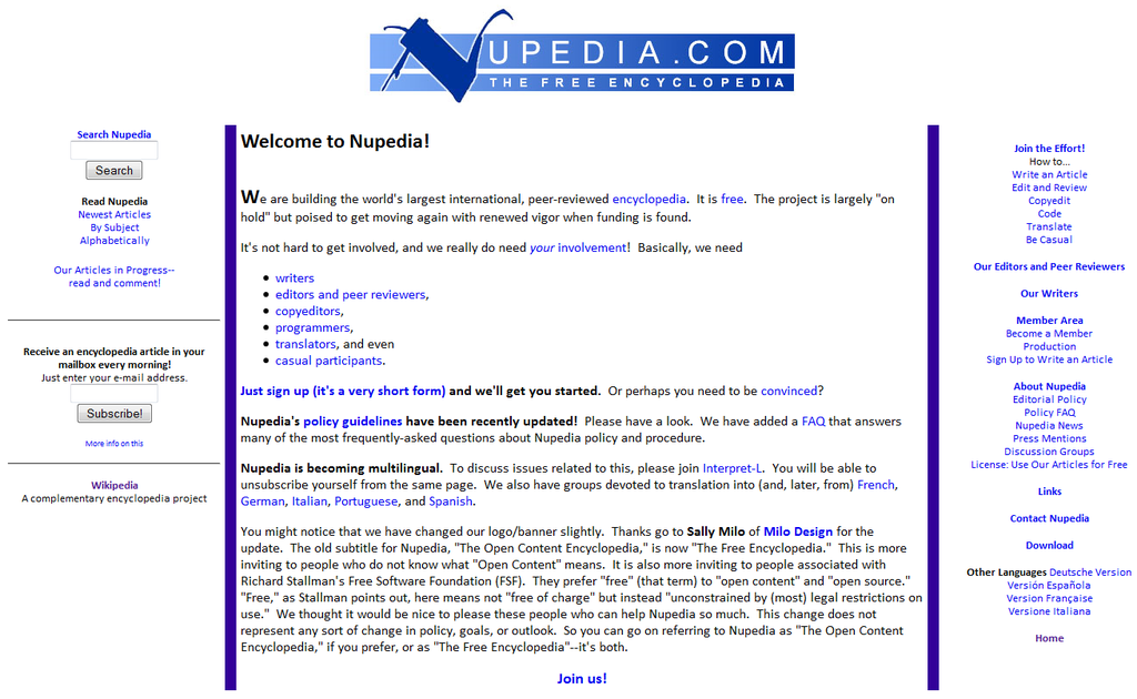 nupedia plateforme